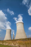 Cooling tower and stacks Royalty Free Stock Photos