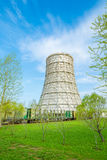 Cooling tower. Of thermal power station Royalty Free Stock Photography