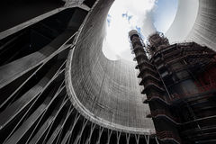 Cooling tower. A thermal power station the part of his cooling-tower, inside royalty free stock image