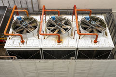 Cooling Tower. Top view of a cooling tower for air conditioning stock image
