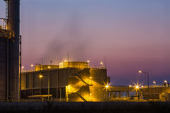 Cooling tower at twilight Stock Image