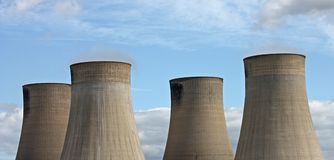 Cooling Towers. Royalty Free Stock Photo