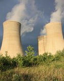 Cooling towers. In nuclear electricity  center Stock Images