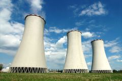 Cooling towers. In power plant Detmarovice (Czech Republic royalty free stock photos