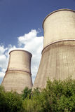 Cooling towers. Cooling water towers - parts of a thermo power plant stock photography