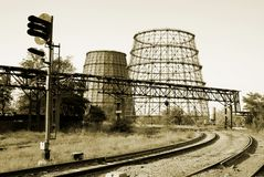 Free Cooling Towers And Railway Stock Image - 6087181