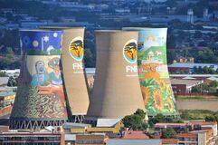 Cooling towers of Bloemfontein power station seen from Naval Hill