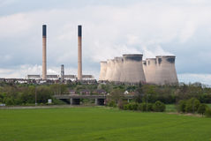 Cooling towers and chimneys Royalty Free Stock Photos