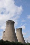Cooling Towers and Clouds Stock Images