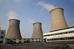 Cooling Towers Coal Fired Electricity Plant China stock photography