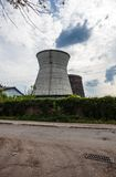 Cooling towers of the cogeneration plant in Kyiv, Ukraine Royalty Free Stock Photo