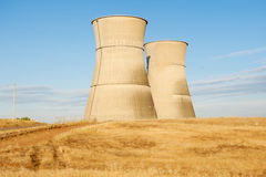 Cooling Towers at Dawn Stock Image