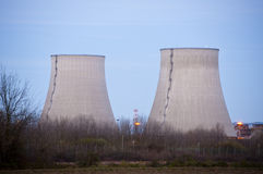 Cooling towers at dusk Stock Image