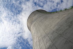 Cooling towers at nuclear power plant Stock Photos