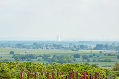 Cooling towers nuclear power plant of Philippsburg Royalty Free Stock Photos
