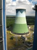 Cooling towers in power plant Royalty Free Stock Photography