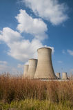 Cooling towers of a power plant Royalty Free Stock Photos