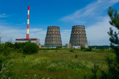 Cooling towers of power station Stock Image