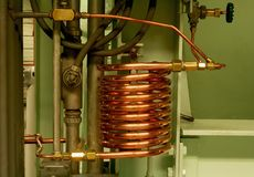 Cooling water coil Royalty Free Stock Photos