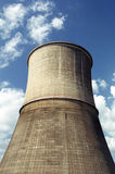 Cooling water tower. Part of thermo power plant - cooling water tower stock photo