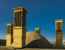 Cooling wind tower, Yazd, Iran Stock Images
