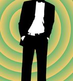 Coolness. Illustration of a man in retro style Stock Photo