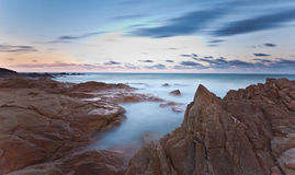 Coolum Beach at Sunset. Queensland, Australia Stock Images