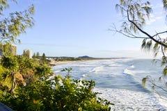 Coolum5, costa da luz do sol, Queensland, Austrália Fotos de Stock Royalty Free