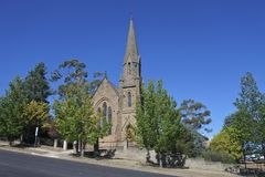 Cooma Uniting Church in New South Wales Australia. Cooma Uniting Church in Cooma Town in New South Wales Australia stock image