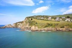 Coombe Martin zatoka Blisko Ilfracombe północy Devon, Obraz Royalty Free