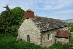 Coombes kościół, Zachodni Sussex, UK zdjęcie royalty free