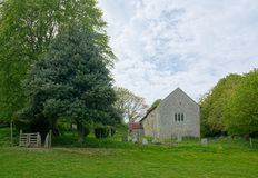 Coombes kościół, Zachodni Sussex, UK obraz stock