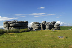 Coombestone Tor on Dartmoor Stock Image