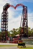 Exterior view of Buzzsaw ride attraction at Dreamworld theme par. Coomera, Queensland, Australia - January 9, 2018. Exterior view of Buzzsaw ride attraction at Stock Photography