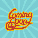 Cooming Soon lettering. Vector illustration. Cooming Soon lettering. Hand lettering Royalty Free Stock Photography
