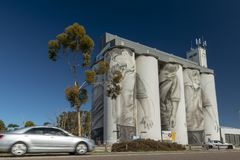 Coonalpyn Silo Murals South Australia royalty free stock photography