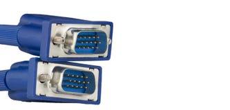 2 coonectors VGA изолированного на белой предпосылке Стоковые Изображения