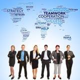 Coopération internationale de travail d'équipe d'affaires photographie stock libre de droits