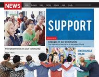 Coopération Team Aid Concept d'aide de soutien Photo libre de droits