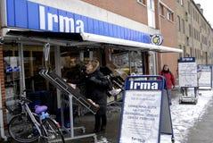 COOP CLOSED 20 GROCERY STORES. Copenhagen-Denamrk _Coop closed three grocery store chains ,Irma selling 50 clousure sale and Fakta and brugersen in Denmark due Stock Images