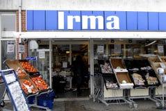 COOP CLOSED 20 GROCERY STORES. Copenhagen-Denamrk _Coop closed three grocery store chains ,Irma selling 50 clousure sale and Fakta and brugersen in Denmark due Stock Image