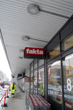 COOP CLOSED 20 GROCERY STORES. Copenhagen-Denamrk _Coop closed three grocery store chains ,Irma selling 50 clousure sale and Fakta and brugersen in Denmark due Royalty Free Stock Photography