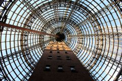 Coop's Shot Tower inside Melbourne Central Complex in Melbourne, Victoria, Australia stock photo