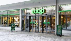 COOP Store in Alvsjo. Stockholm, Sweden - January 2, 2016: COOP Store in Alvsjo royalty free stock images