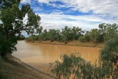Cooper Creek, Queensland Australia. Cooper creek with cloudy sky in outback queensland australia Stock Image