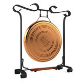 Cooper gold gong isolated. See my other works in portfolio Royalty Free Stock Photos