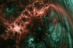 cooper green fractal tło Obrazy Stock