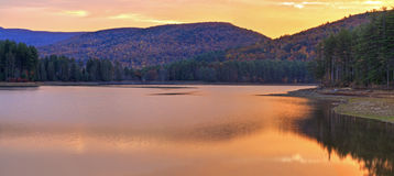 Cooper Lake Sunrise Panorama Royalty Free Stock Images