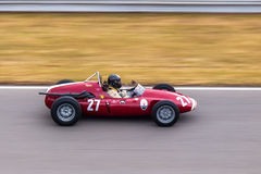 Cooper Maserati T51. Historic racing car photographed during Brno Grand Prix Revival event on 5 July 2014 in Automotodrom Brno, Czech Republic Royalty Free Stock Photography
