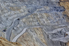 Cooper mine - Open pit 1 Royalty Free Stock Image
